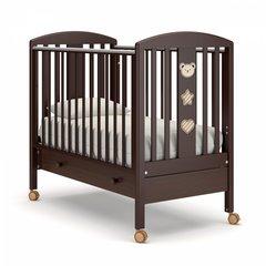 Кровать детская Дени люкс с ящиком шоколад