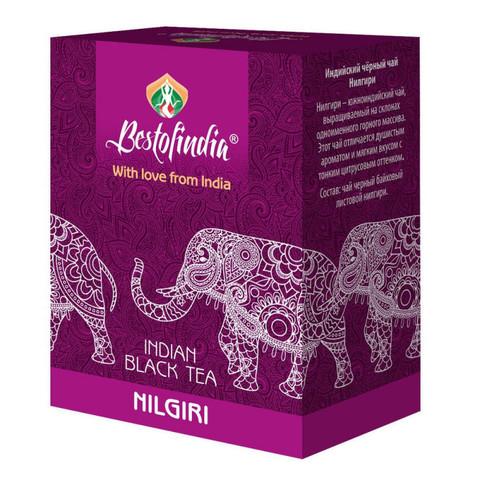 Чай NILGIRI черный индийский листовой100г Bestofindia