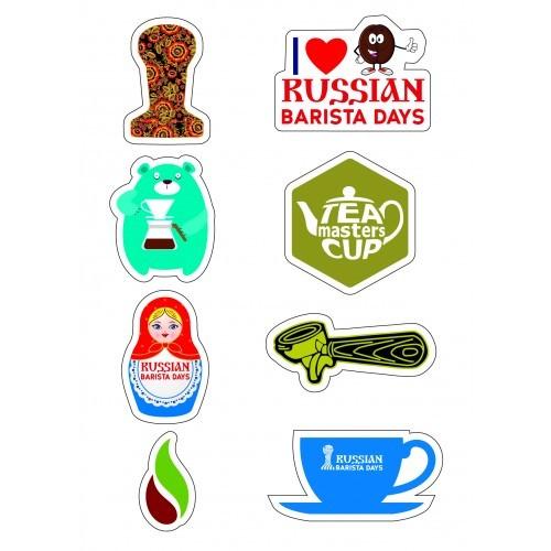 Наклейки кофе и чай