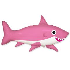 F Фигура, Счастливая акула, Розовый, 39''/99 см, 1 шт.