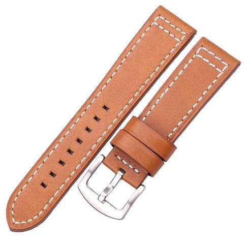 Кожаный ремешок 22мм Hengrc для Samsung Gear S3/Galaxy Watch 46 (коричневый)