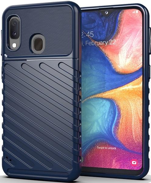 Чехол для Samsung Galaxy A20 (Galaxy A30, M10S) цвет Blue (синий), серия Onyx от Caseport