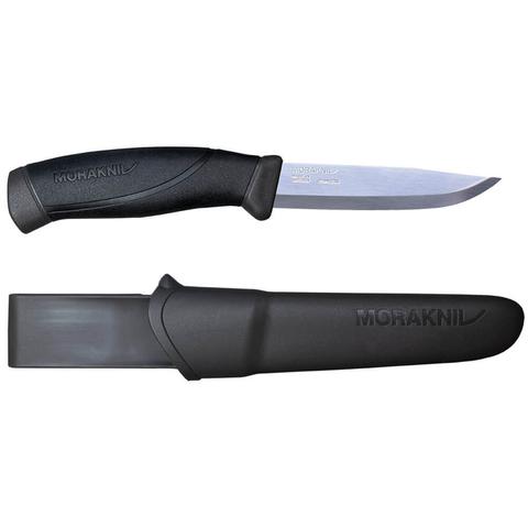 Нож Morakniv Companion Anthracite, нержавеющая сталь, черный