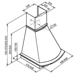 Вытяжка Kuppersberg TAIS 90 WM B - схема