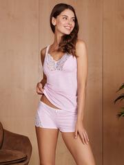 Vivamama. Пижама для кормящих Olivia, розовый меланж вид 2
