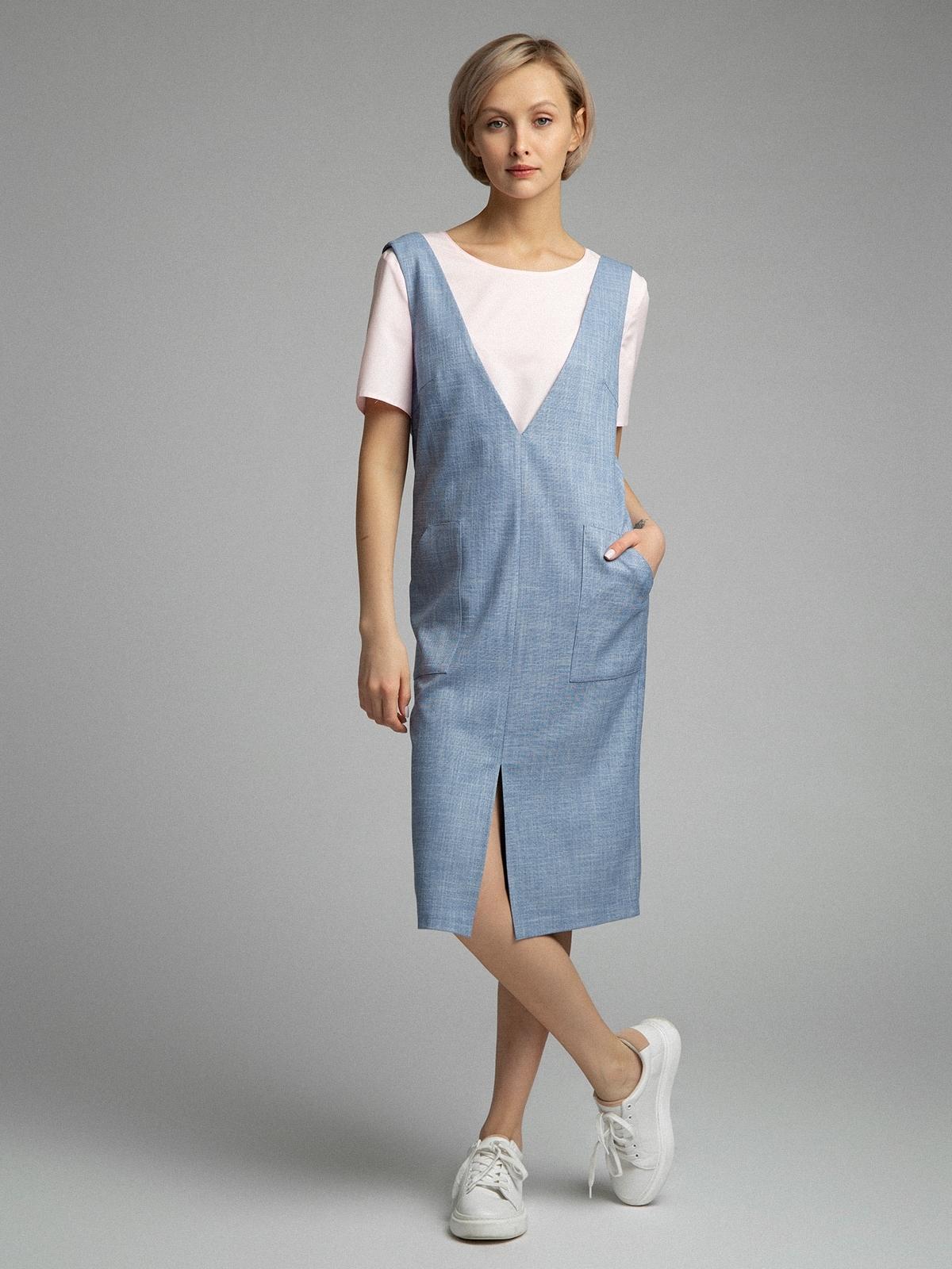 Сарафаны Платье-сарафан с накладными карманами PL1097/kevin HF8B1014.jpg