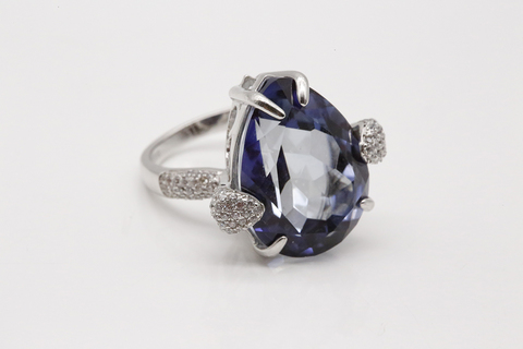 Серебряное кольцо с мистик аметистом Fab104R-2870MI