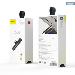 Baseus Adapter L41 Type-C for Type-C + 3.5 mm Black MOQ:20 (CATL41-01)