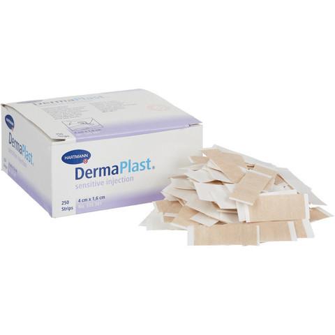 Пластырь бактерицидный Dermaplast injection инъекционный 4x1.6 см на тканой основе (телесный, 250 штук)