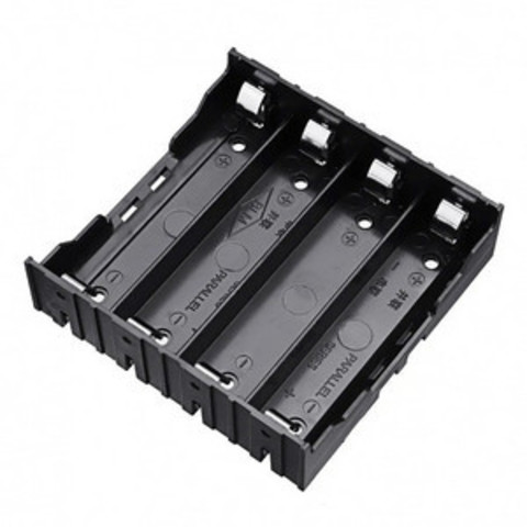 Батарейный отсек на 4 аккумулятора 18650 LI-ion на плату