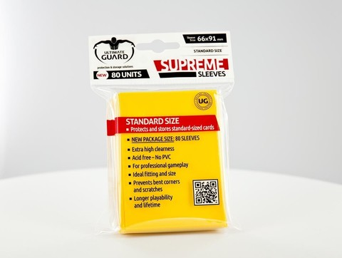 Supreme Sleeves Standard Size Solid Yellow