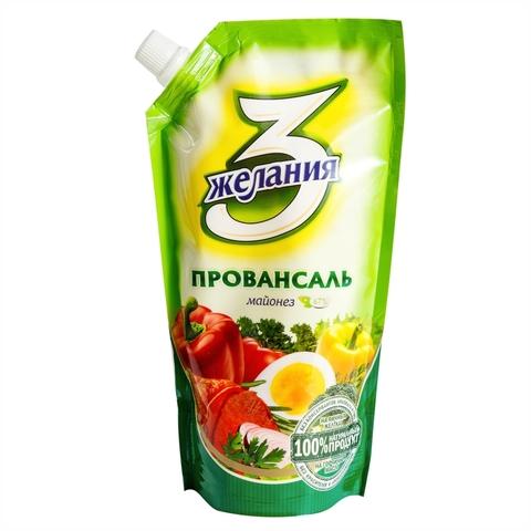 Майонез 3 ЖЕЛАНИЯ Провансаль 190 гр КАЗАХСТАН