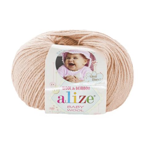 Пряжа Alize Baby Wool нежный беж 382