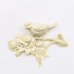 Отливка Птичка на ветке 3Д, 13х9см