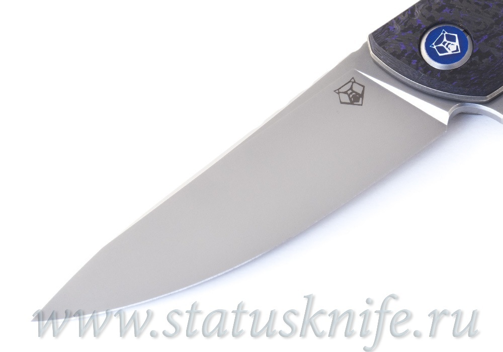 Нож Широгоров F3 NS M390 Ф3 Purple CF 3D подшипники - фотография