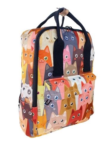 Молодёжный рюкзак из текстиля с принтом, мультицвет