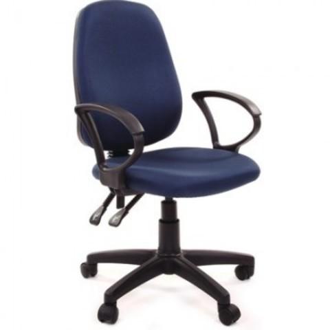 Кресло офисное Easy Chair 318 AL синее (ткань/пластик)