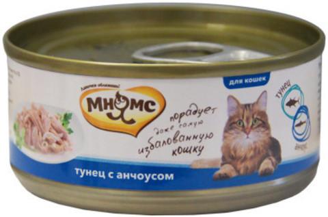 Мнямс консервы для кошек Тунец с анчоусами в нежном желе