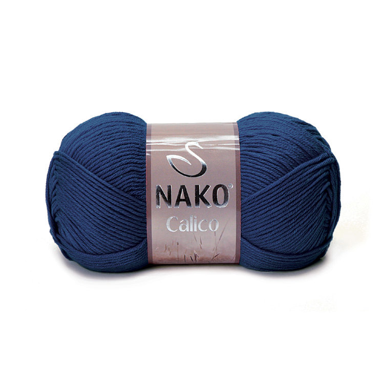 Пряжа Nako Calico темно-синий 148