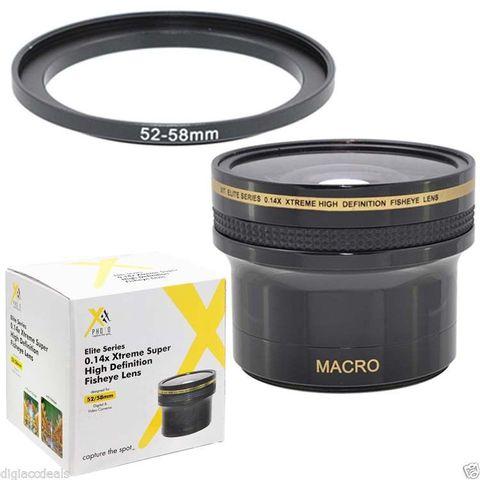 Фишай Fisheye линза 0.14x HD для Nikon D7000, D3200, D5100, D90, 1 V1, Canon