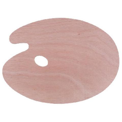 Палитра деревянная овальная Сонет, 30х40см, толщина 5 мм, DK18423