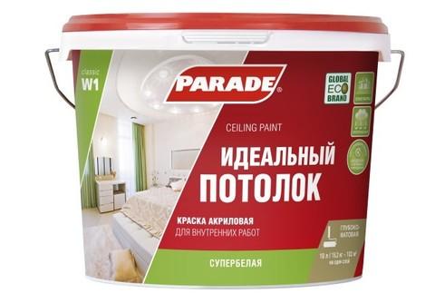 Краска для потолка акриловая Parade W1 (10л)