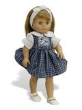 Платье комбинированное - На кукле. Одежда для кукол, пупсов и мягких игрушек.