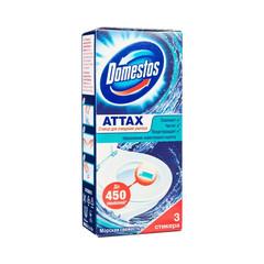 Стикер для унитаза Domestos Attax Морская свежесть (3 штуки в упаковке)