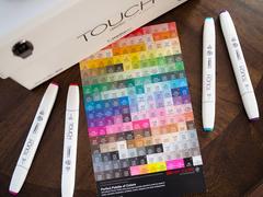 Touch Twin Brush набор маркеров для скетчинга 60 шт в чемодане - двусторонние спиртовые кисть/долото (палитра А)