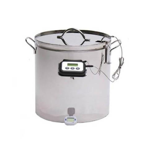 Мини пастеризатор для молока - сыроварня на 10 литров Бергман с ТЭНом, фото