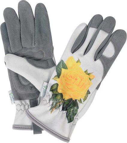 Садовые перчатки GOLD LEAF Хэмптон (Желтая роза)
