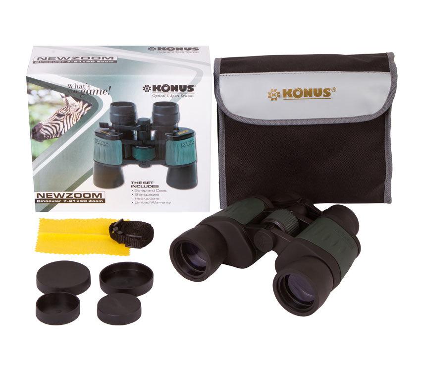 Бинокль Konus NewZoom 7–21x40 - фото 2 - комплект поставки