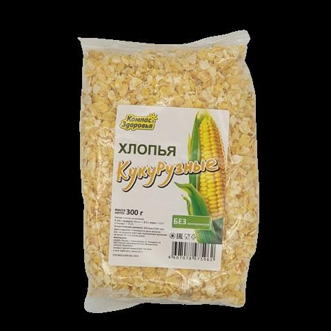 Хлопья кукурузные КОМПАС ЗДОРОВЬЯ, 300 гр