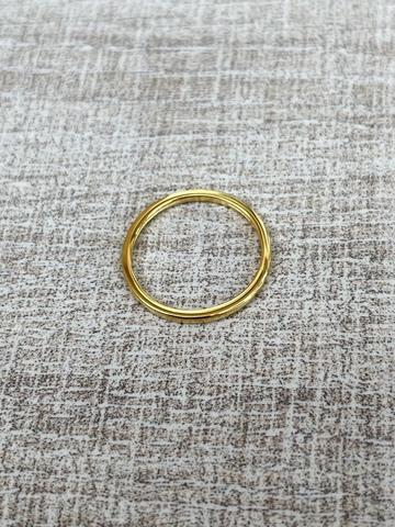 Кольцо Симпл, позолоченное серебро