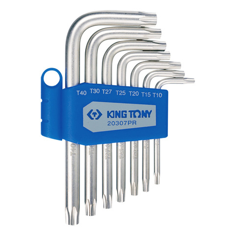 KING TONY (20307PR) Набор Г-образных ключей TORX, T10-T40, 7 предметов