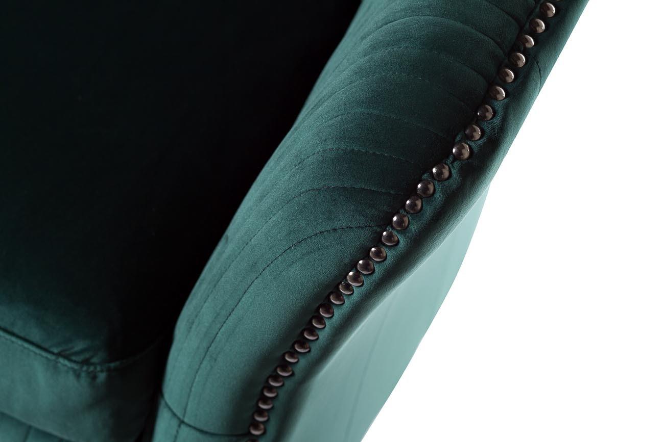 Кресло низкое велюровое изумрудное (PJS30801-PJ622) Garda Decor