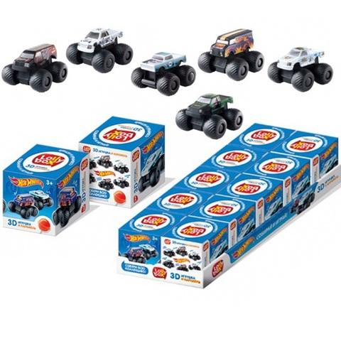 LOLLY BOX HOT WHEELS Карамель на палочке с игрушкой в коробочке 1кор*12бл*10шт, 11,4г.