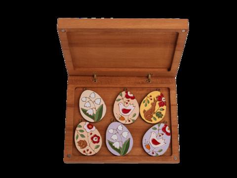 Подарочный набор из шести пасхальных яиц в большой коробке