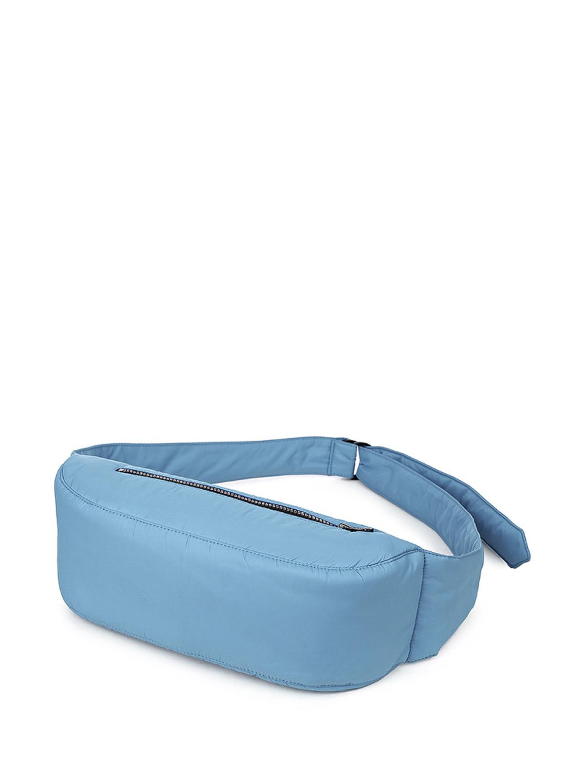 Сумка поясная серо-голубая (FW0509)