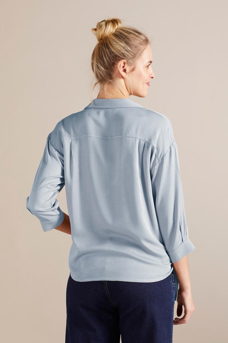 Блузка для беременных 09731 голубой