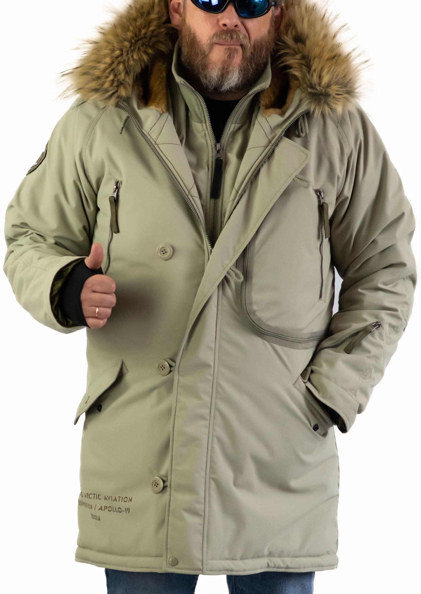 Куртка мужская зимняя Apolloget Expedition (хаки - silver green/olive)