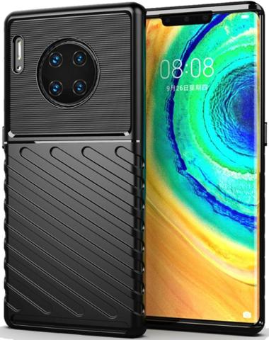 Чехол для Huawei Mate 30 Pro (Mate 30 RS) цвет Black (черный), серия Onyx от Caseport