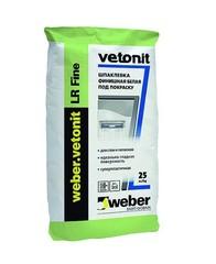 Шпаклёвка Weber Vetonit LR Fine полимерная финишная, 25 кг