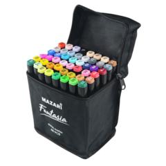 Mazari Fantasia набор маркеров для скетчинга 48 шт в сумке пенале - двусторонние спиртовые пуля/долото 3.0-6.2 мм