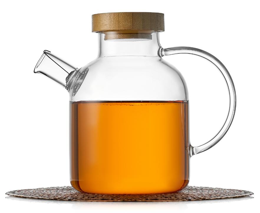 Чайники Бамбук Чайник заварочный стеклянный, Бамбук, 650 мл 1-002-650-zavarochniy-chaynik-bamboo-teastar.PNG
