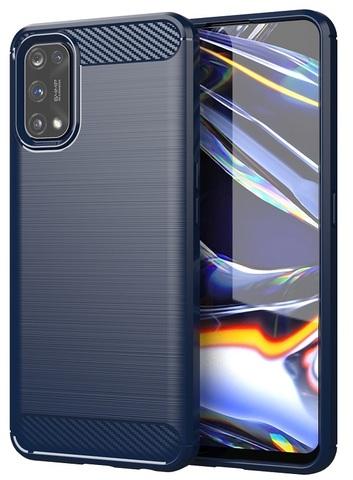 Темно-синий защитный чехол для OPPO Realme 7 Pro, серии Carbon от Caseport
