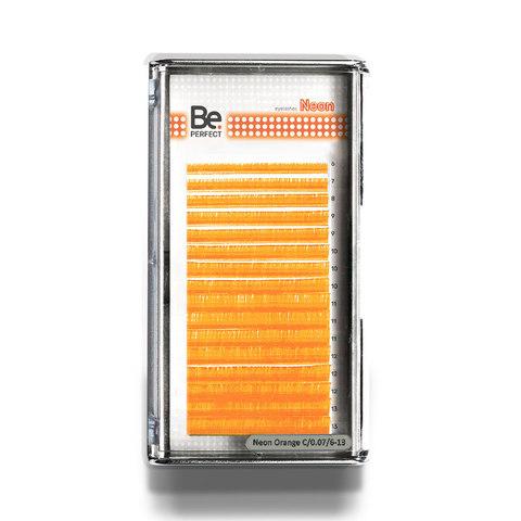 Цветные ресницы Be Perfect Neon Orange MIX 16 линий