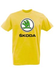 Футболка с принтом Шкода (Škoda) желтая 002