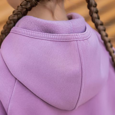 Warm hooded jumpsuit with flap for teens - Lilac