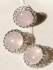 Отрада (кольцо + серьги из серебра)